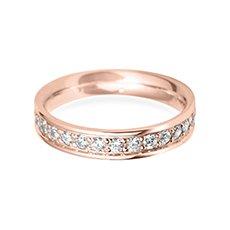 4.0mm Grain Set Flat rose gold wedding ring