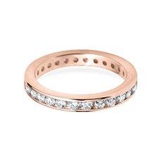3.0mm Classic Eternity rose gold wedding ring