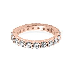 3mm Claw Set Eternity rose gold wedding ring