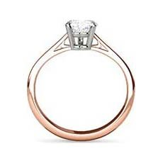 Justine rose gold ring