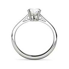 Justine platinum solitaire diamond ring