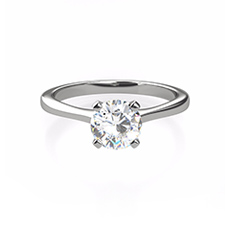 Sofia diamond platinum ring