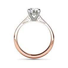 Jyoti rose gold diamond ring