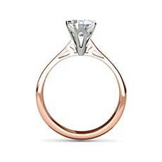 Angela rose gold solitaire ring