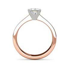 Megan rose gold solitaire ring