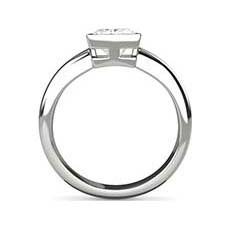 Verona platinum princess cut engagement ring