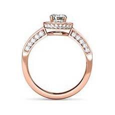 Serena vintage rose gold engagement ring