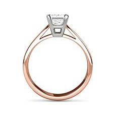 Georgina rose gold solitaire ring