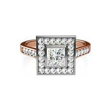 Cosima vintage rose gold engagement ring