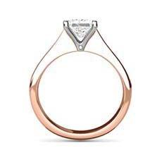 Hermione rose gold diamond ring