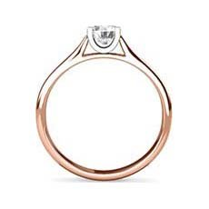Paula rose gold solitaire ring