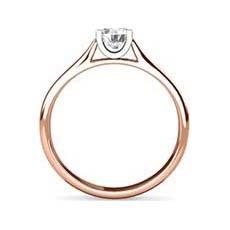 Paula rose gold diamond ring