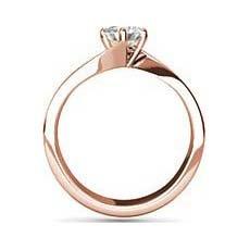 Tanvi rose gold diamond ring