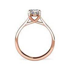 Morgan rose gold diamond ring