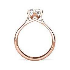 Leah rose gold diamond ring