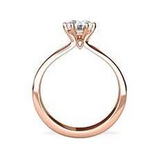 Aisha rose gold ring