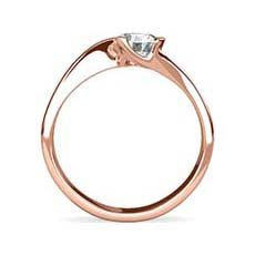 Danielle rose gold ring