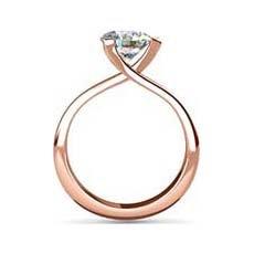 Cecilia rose gold diamond ring