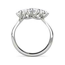 Claire three stone diamond ring