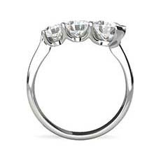 Ondine three stone diamond ring