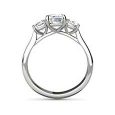 Delia three stone diamond ring