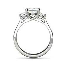 Calista three stone diamond ring