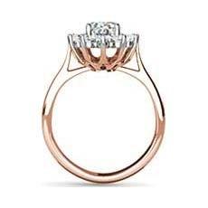 Princess Catherine vintage rose gold engagement ring
